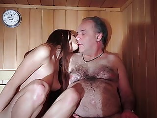 Old Man Fucks Young Teenager She is Hot and Wants Dick Cum