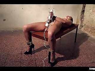 Samantha Joons Bound Down to Table Cleavegagged Vibed