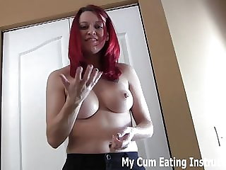 Jerk off Twice and Eat Up All the Cum