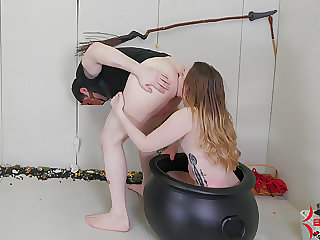 Beautiful Submissive Gives Rimjobs While Tortured with Wax