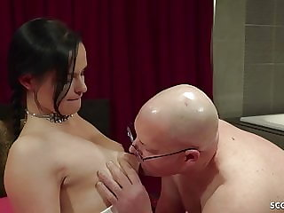 German Old Guy Fuck 18yr Old Teen and Her Girlfriend Watch
