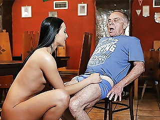 Daddy4k. Old and Young Lovers Have Fun when Athletic Boy