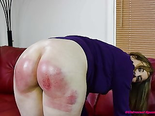 Punished with the Jeans Down - (spanking)