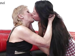 Teen Daughter Fucked by Old Lesbian Granny