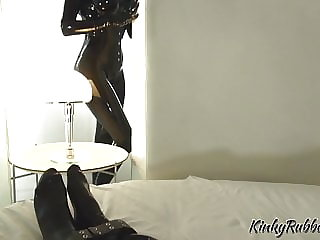 Rubber Slave in Bondage and Chastity