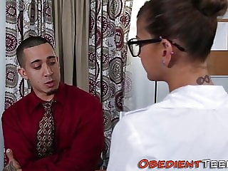 Obeying Teenager Blows