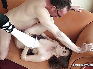 Amazing Young Babe Sarah Smith Seduces Her Boss' Old Friend