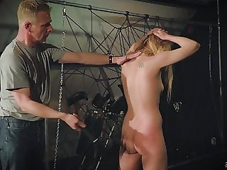 Two Slave Masters Punish Fuck and Spank a Teen in Pain