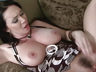 Busty Cougar Pussyfucked During Spooning