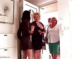 Insane Lesbian Group Sex with Matures and Strapons