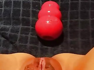 Slave Pushes Toy out of Her Pussy