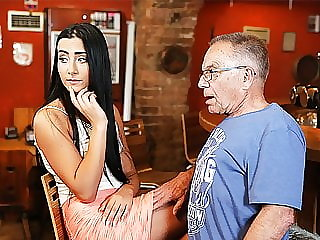 Daddy4k. Pretty Chick Wanted to Experience Old and Young