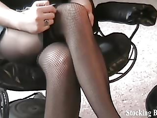 I Will Remove My Sexy Stockings Slowly for You