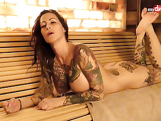 My Dirty Hobby - Busty Tattooed MILF Blows Her Man