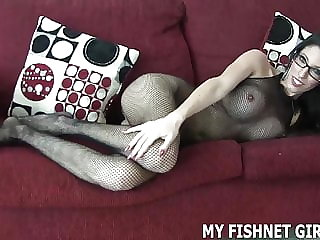 My Fishnet Body Stocking Makes Me Feel So Sexy