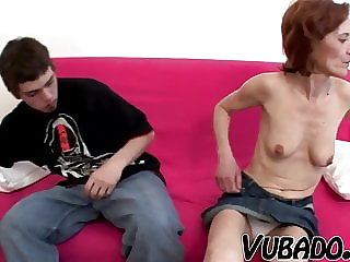 Boy Banging and Cumming Hard on Maid