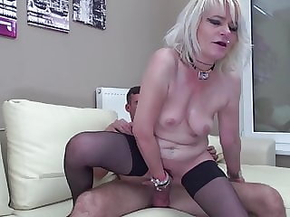 Grown Mom Gets It in the Ass from Son