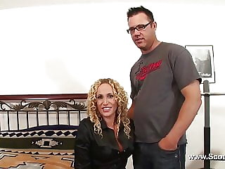 Mother Get Her First Time Casting Fuck with Facial