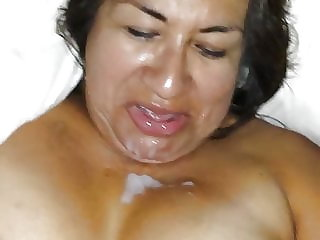 Cum on My Face and Tits