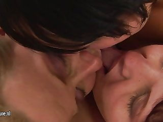 Two Mature Sluts Playing with a Hot Fucking Daughter