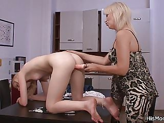 Lezzy Mom and Teen Fucking After Strip Poker