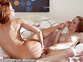 Lesbianolderyounger Veronica Avluv Licks Young Redhead