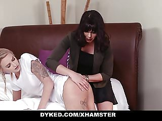 Dyked - Straight Teen Dominated by Hot MILF with Strapon