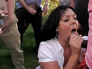 A Busty Milf-slut Outdoors in the Summertime