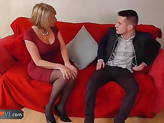 Agedlove Nice Blonde Granny is Fucked by Horny Man