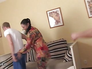 Moms and Grannies Fucked by Young Guy